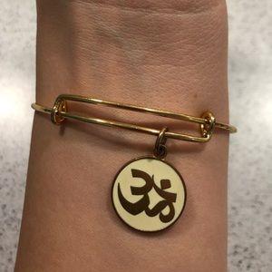 Alex and Ani Om Symbol Bangle Bracelet